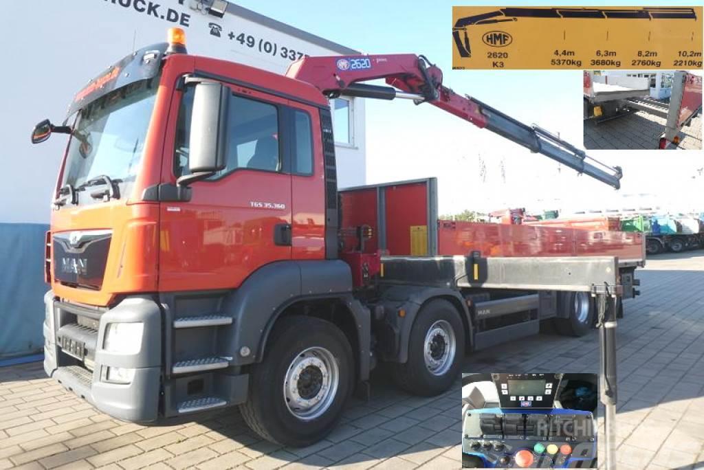 MAN TG-S 35.360 8x2 BL Kran 26m/to Pritsche Kran