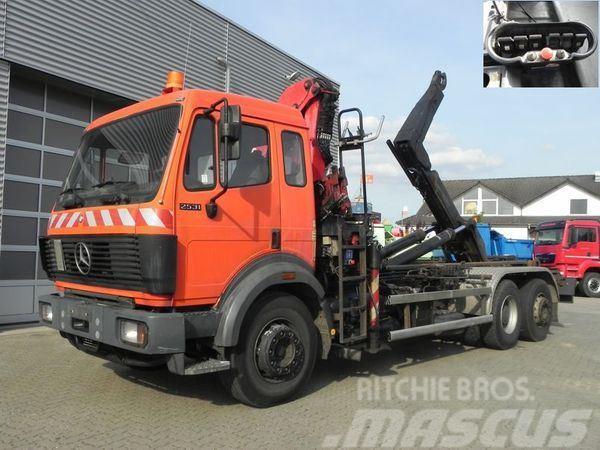 Mercedes-Benz 2531 (E1) 6x2 Abrollkipper+Kran+Funk Abroll Kipper