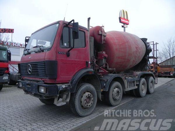 Mercedes-Benz 3229 (V8) 8x4 Betonmischer Stetter 9m³, full sprin