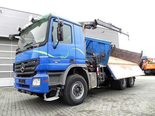 Mercedes-Benz 3350 (V8engine) K 6x4 Kipper/Bordmatik+Kran Drei-S