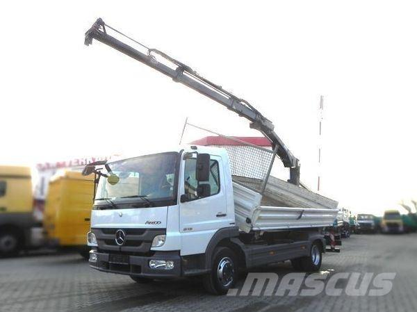 Mercedes-Benz 816 (E5) Kipper+Heckkran Hiab XS 077, Drehservo+Gr