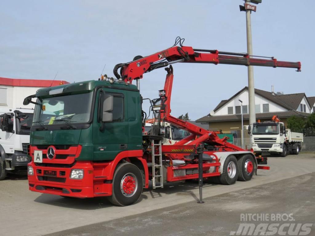 Mercedes-Benz Actros 2541 L6x2 Hiab 144 Abrollkipper mit Kran