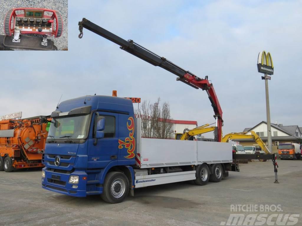 Mercedes-Benz Actros 2544 L6x2 Funk, 23m/to Pritsche Heckkran