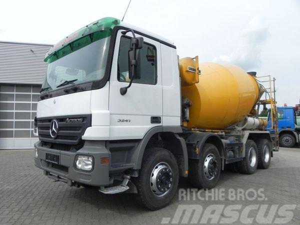 Mercedes-Benz MPII 3241 8x4 Betonmischer Liebherr 9 m³ Betonmisc