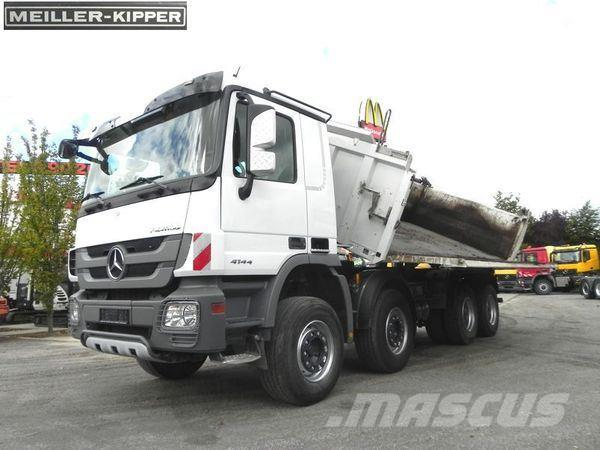 Mercedes-Benz MPIII 4144 (E5) 8x4 Kipper Meiller+Bordmatik Drei-