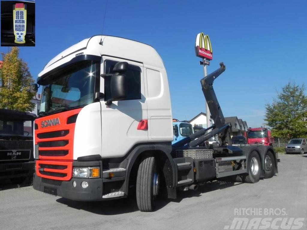 Scania G 410 LB 6x2*4HNA Meiller, Lift+Lenkachse Abrollki