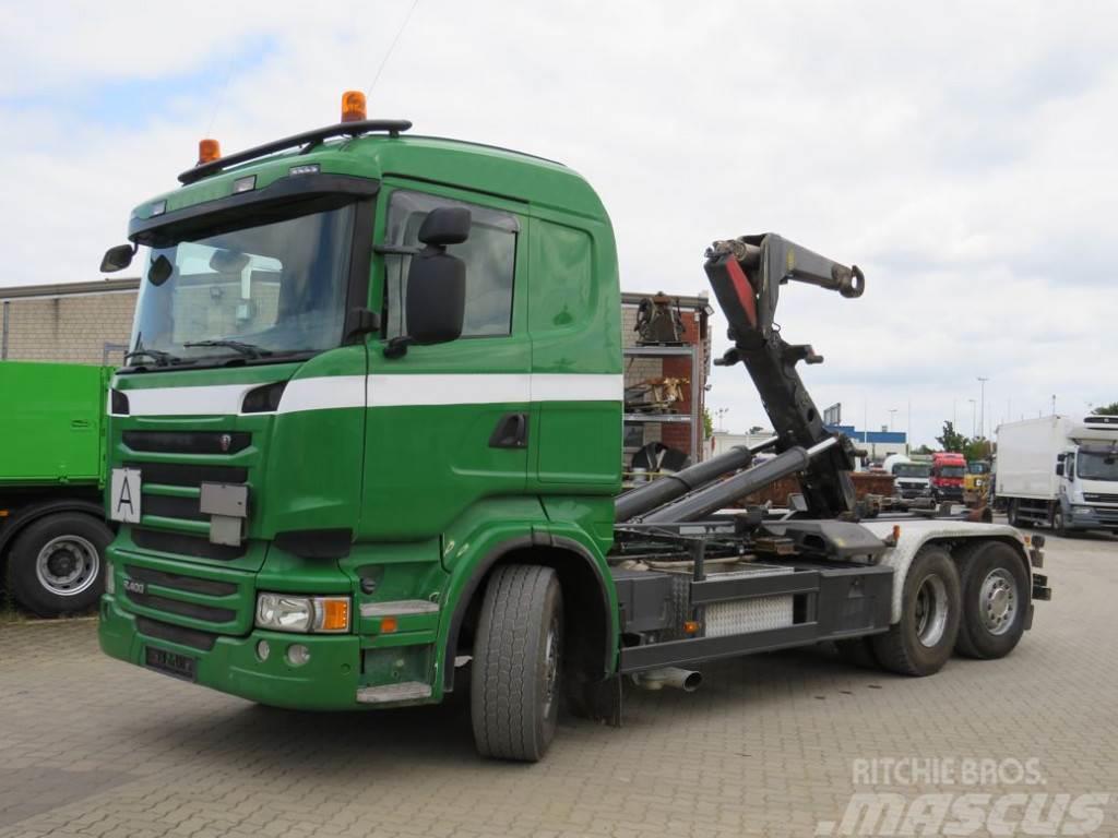 Scania R 400 6x2 Meiller Schub+Knickhaken Abrollkipper