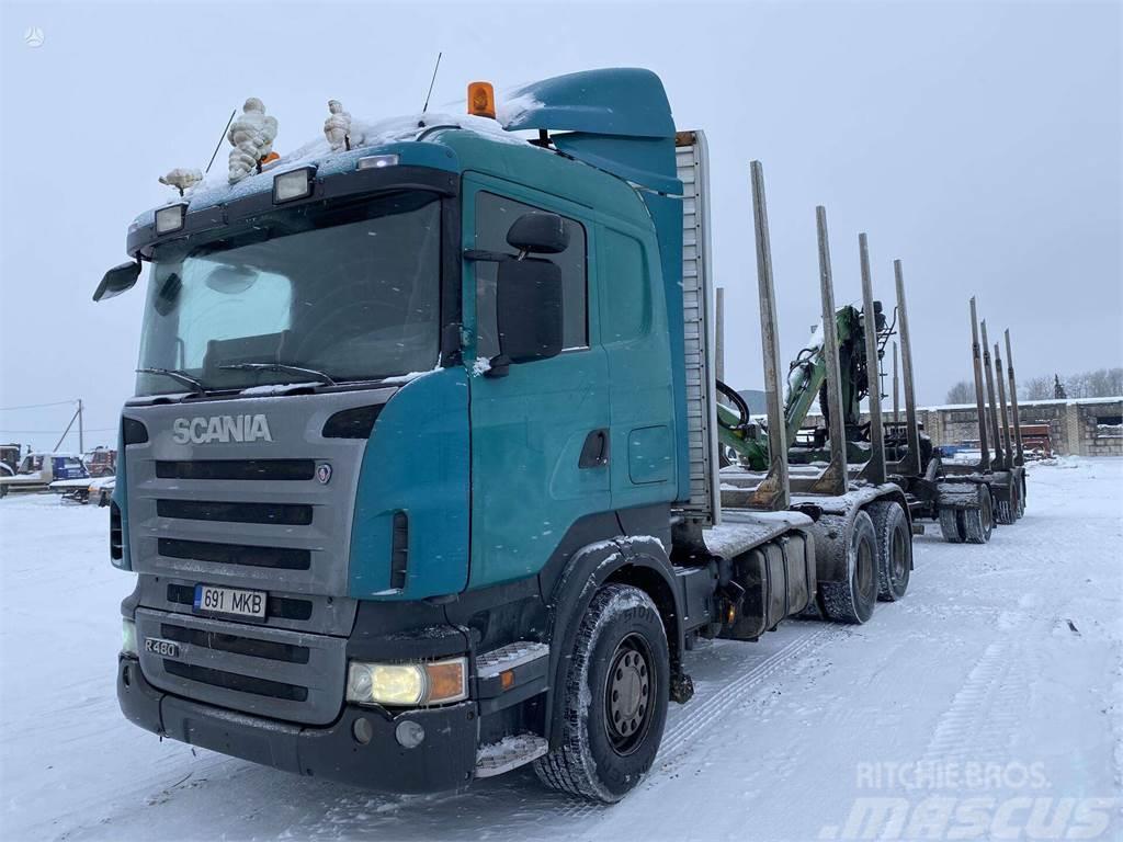 Scania R480 6x4 + Loglift