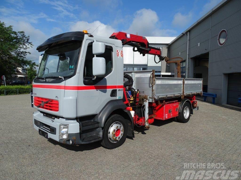 Volvo FL7-240 / AUTOMATIC / 3 SIDES TIPPER / HMF-CRANE /