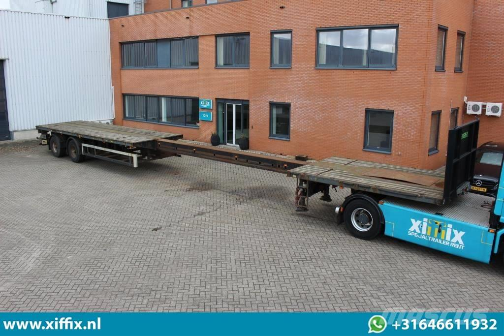 Nooteboom 2-axle Flat extendable trailer // 2x steering