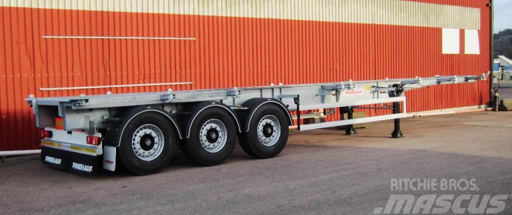 Fruehauf Containerchassi 34 ton 20' mitt + 30 mitt 40 conta