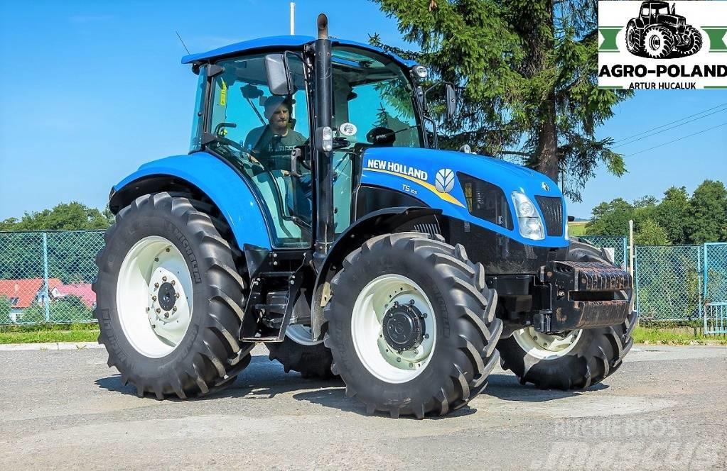 New Holland T5.105 - 2016 ROK - 4075 h -ORYGINALNE OPONY