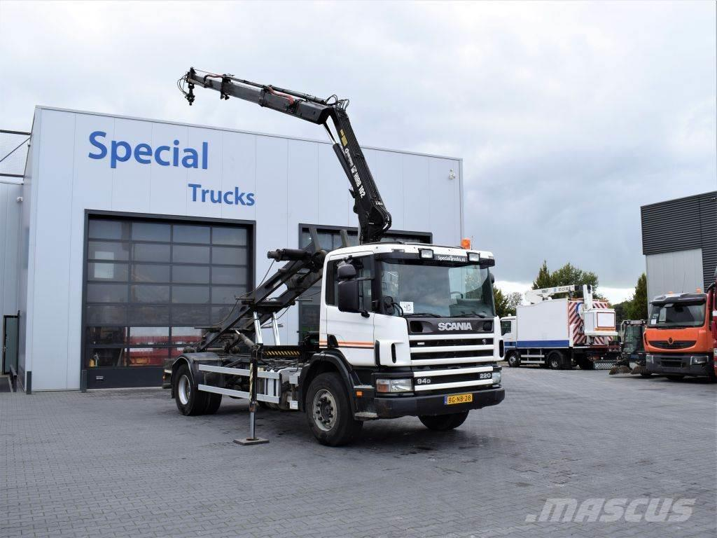 Scania 94D 220 4x2 / NCH Container system 14T + HIAB 102-