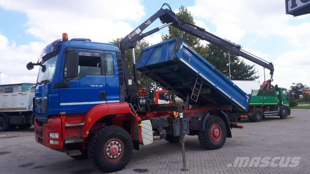 MAN TGS 18.360 4X4 BB  crane HIAB 099BS German brief