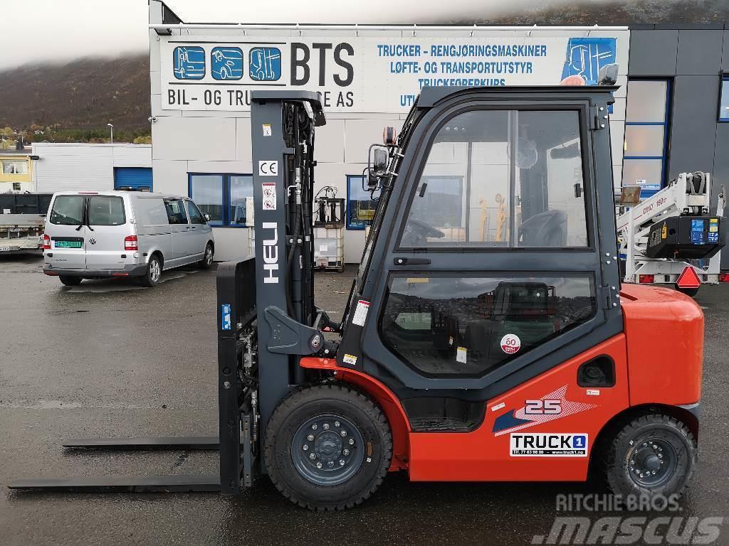 Heli CPCD25 (H3) - 2,5 t diesel - 4,7 m LH (PÅ LAGER)