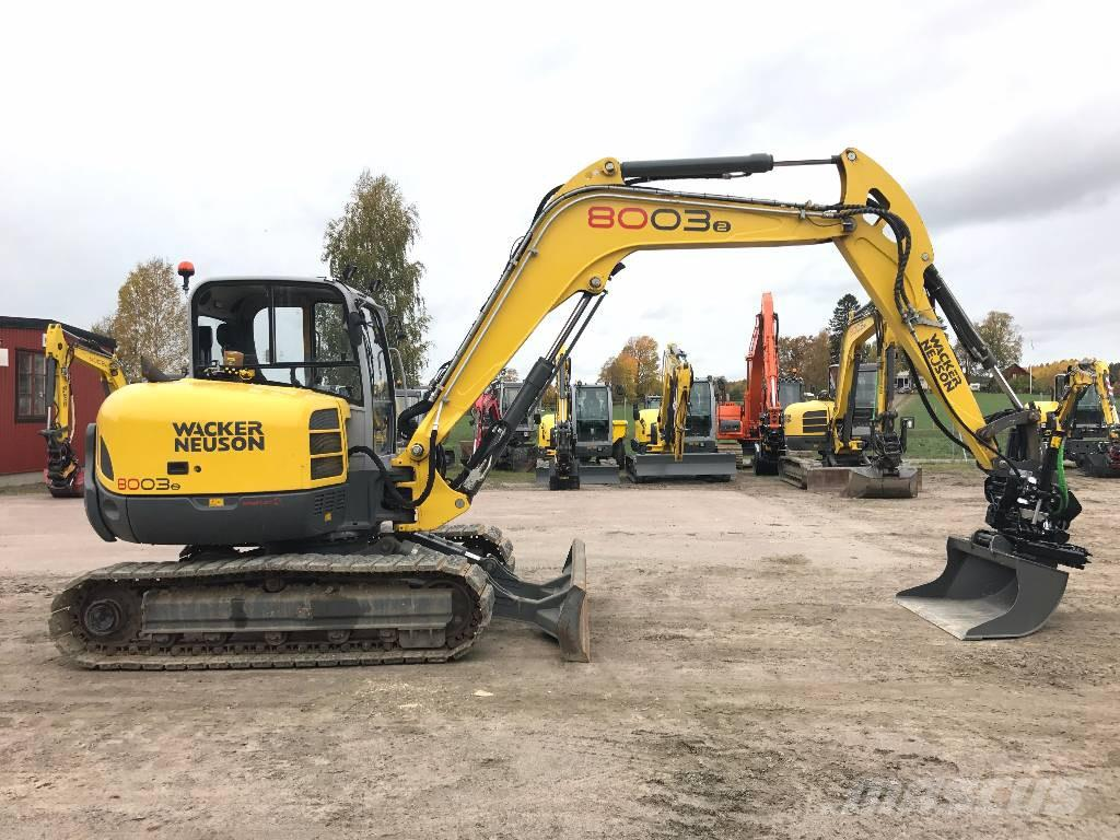 used wacker neuson 8003 uthyres mini excavators 7t 12t. Black Bedroom Furniture Sets. Home Design Ideas