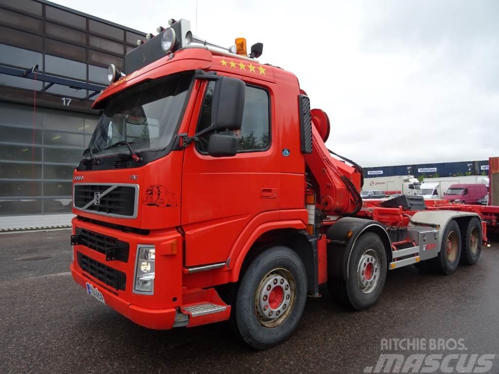 Volvo FM9 vaijerilaitteet kiinteällä nosturilla