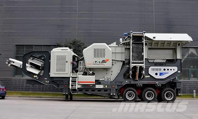 Liming 100tph construction waste Mobile crusher