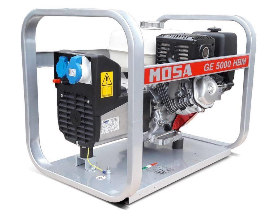 Mosa Stromerzeuger GE 5000 HBM 4.9 kVA / 230V / 21.3A