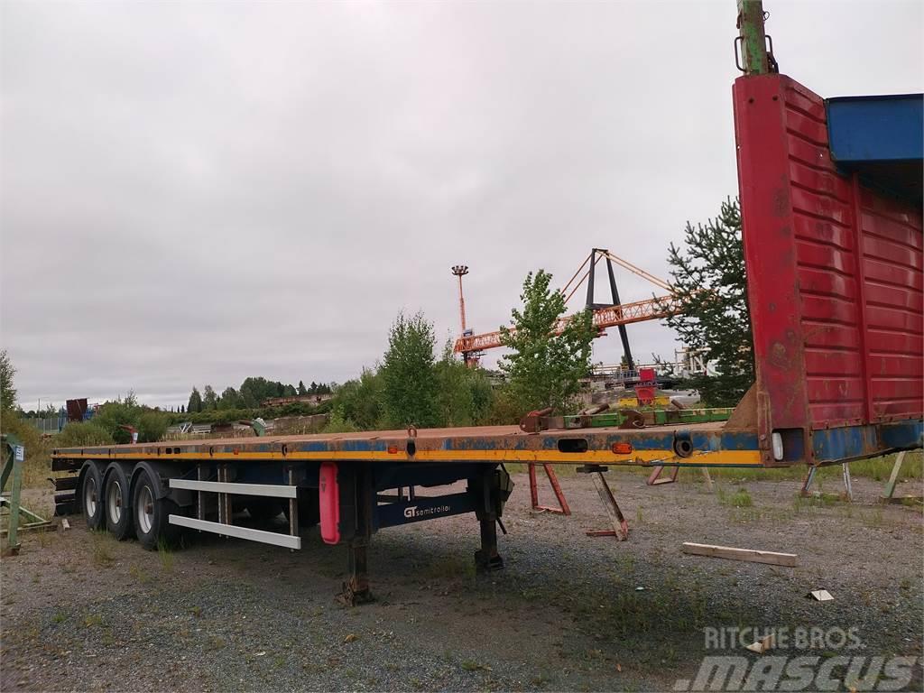 GT trailer vahva 13,60 teräslavainen kärry,konttiluko