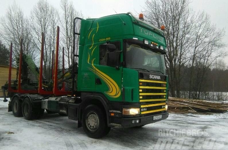 Scania 164 G c КМУ LOGLIFT 96 S, 2003, Timmerbilar