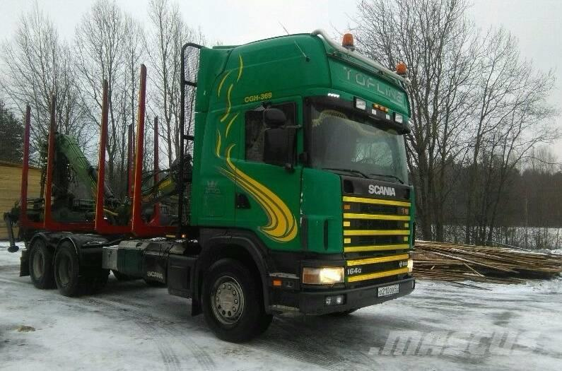 Scania 164 G c КМУ LOGLIFT 96 S