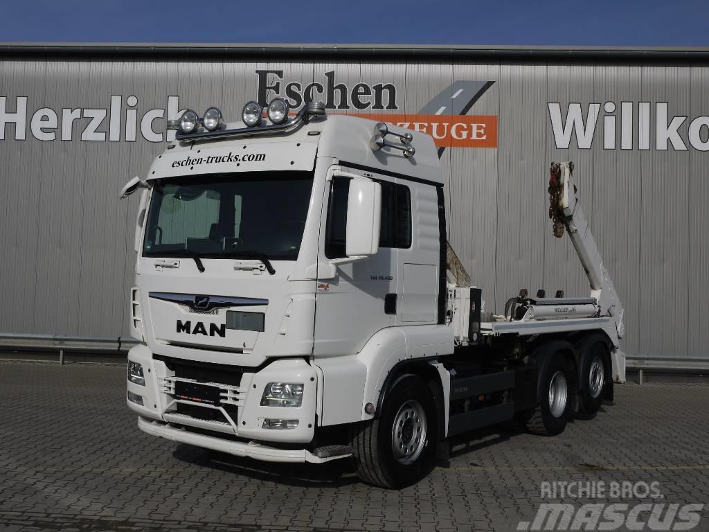 MAN TGS 26.460BL, 6x4, Meiller Teleabsetzer, Euro 6