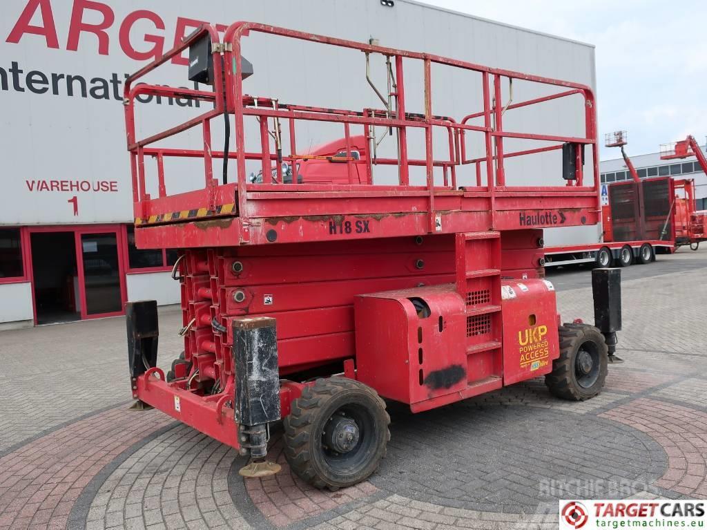 Haulotte H18SX Diesel 4x4 Scissor Work Lift 1800cm