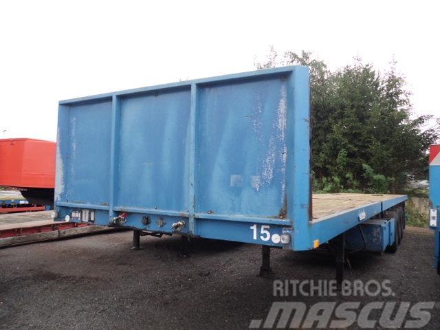 Nooteboom 3 Achs Plateau-Sattelaufliege EXTENDABLE 6.6 m, 1993, Låg lastande semi trailer