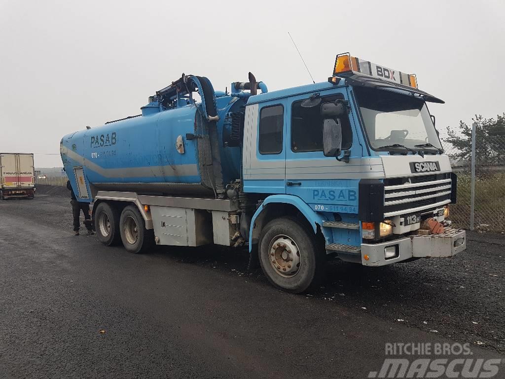Scania 113 Slamsugare-Spolbil