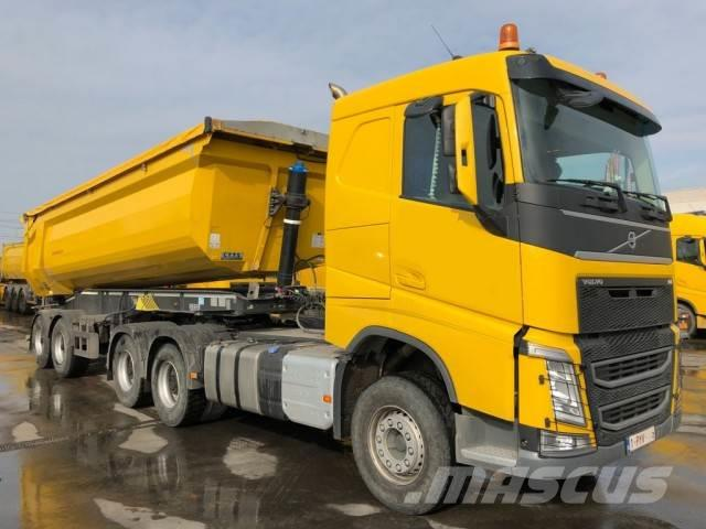 used volvo fh 500 6x4 with kipper schwarzmuller tractor. Black Bedroom Furniture Sets. Home Design Ideas