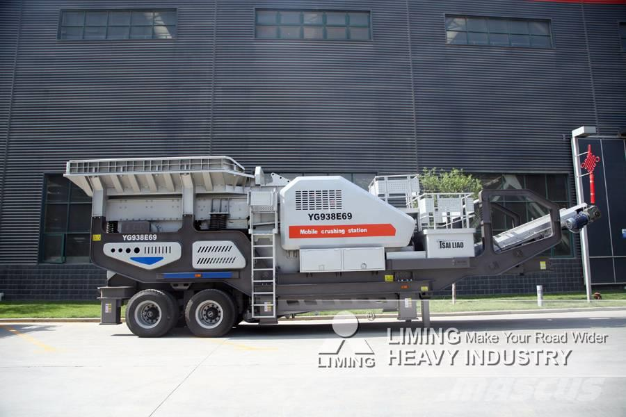 Liming 150~500tph Mobile Primary Jaw Crusher