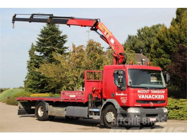Renault Premium 270dci HMF 18tm crane / flatbed