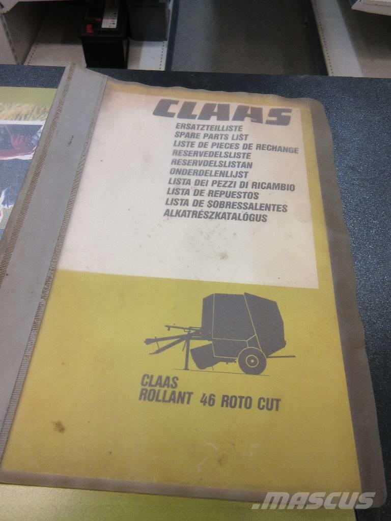 CLAAS Rollant 46 spare parts list / varaosakuvasto