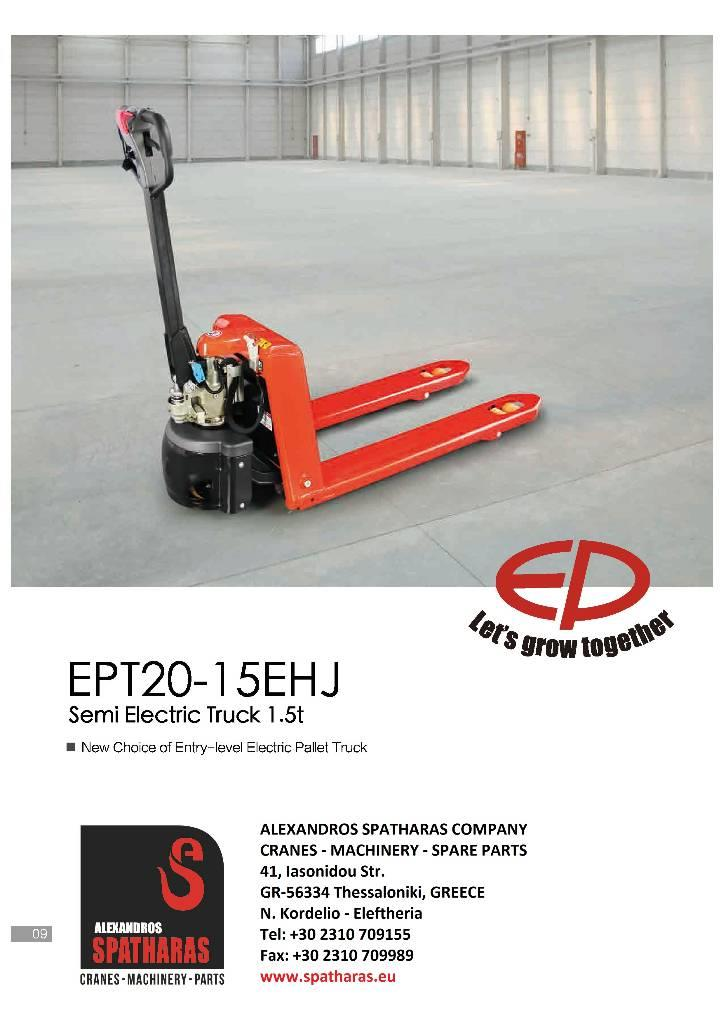 EP EPT20-15EHJ - Hand pallet truck, Year of manufacture