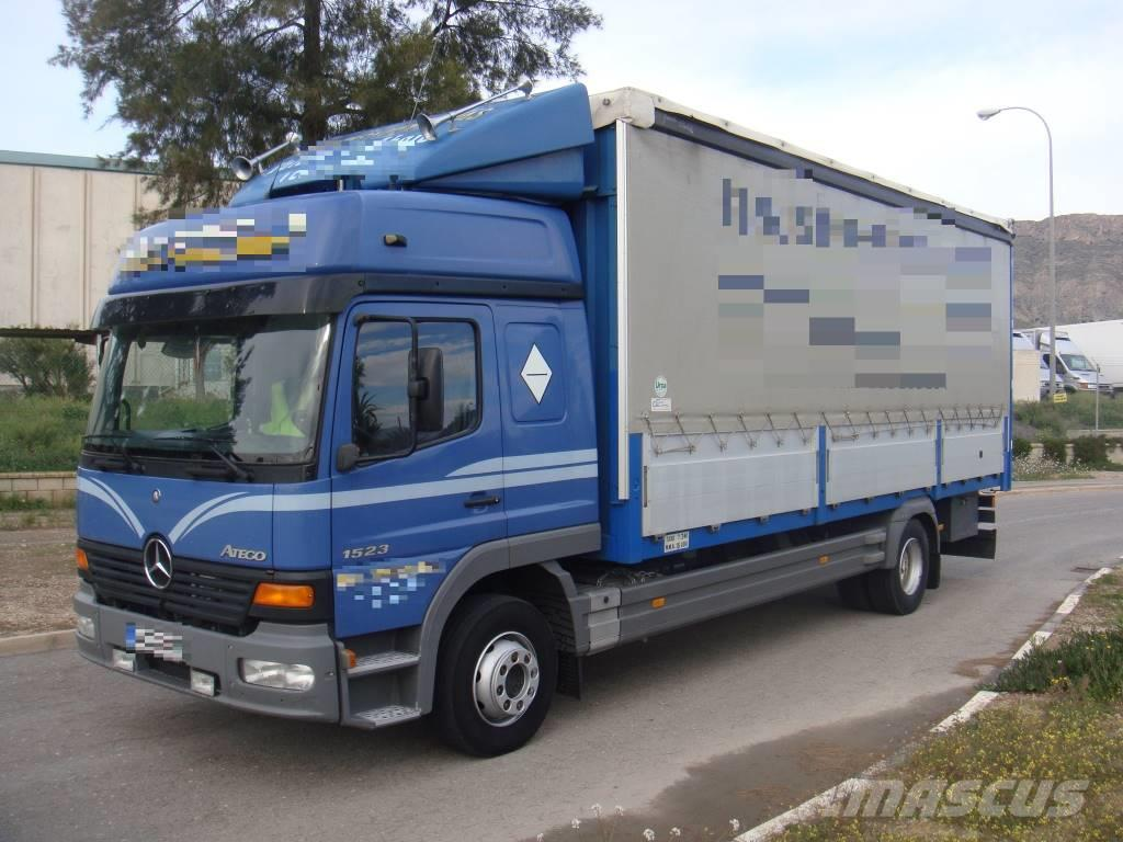 used mercedes benz atego 1523 semitauliner curtain side trucks year 2001 for sale mascus usa. Black Bedroom Furniture Sets. Home Design Ideas