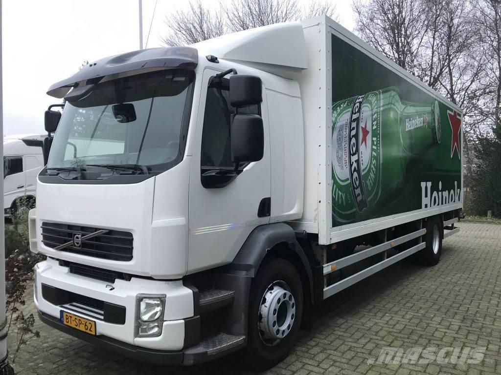 Volvo FE 280 18 tons gesloten laadbak met klep , handbak