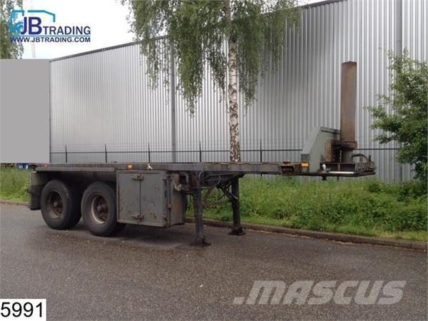 Groenewegen Container 20 FT, Kipper hydraulic systeem, Steel s