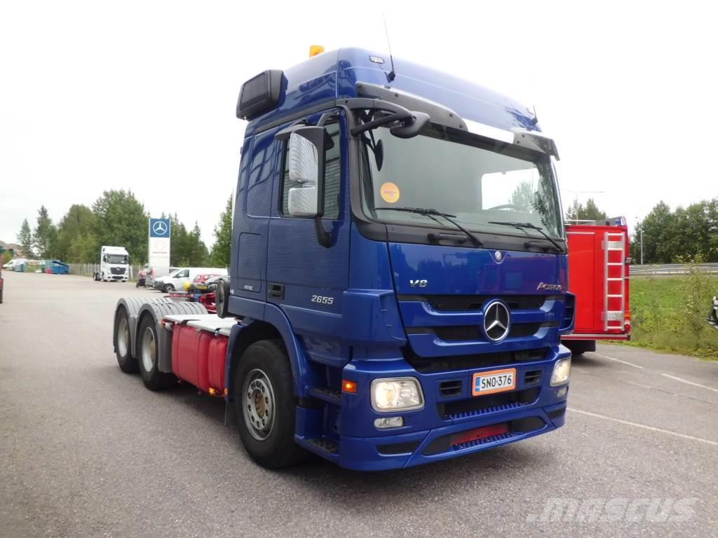 Used mercedes benz actros 2655 6x4 tractor units year for Mercedes benz actros for sale