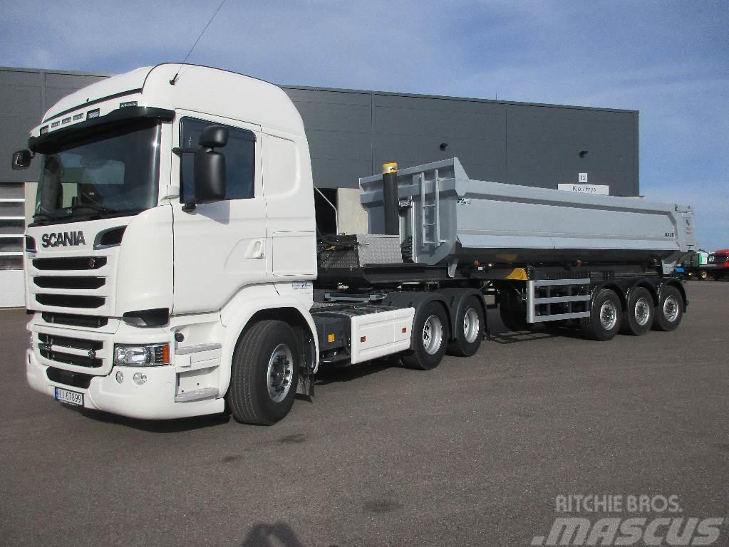 Scania R580 m/tippsemi
