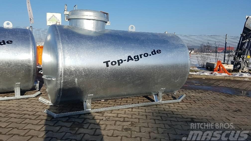 Top-Agro Water tank, 2000L, stationary + metal skids!