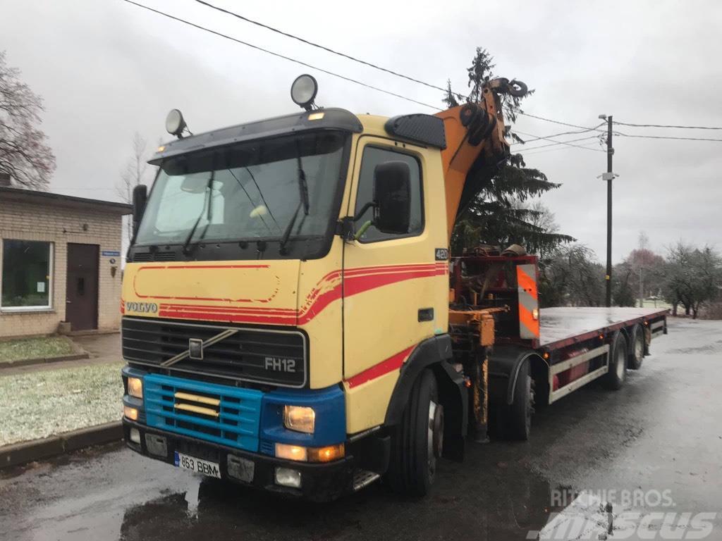 Volvo 8x2, Crane Effer 37, REMOTE CONTROL, LOWBED FH12