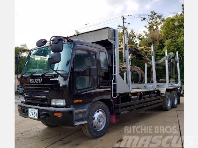 Isuzu KC-CYZ81V1 クレーン付き材木運搬車 更新車検付き