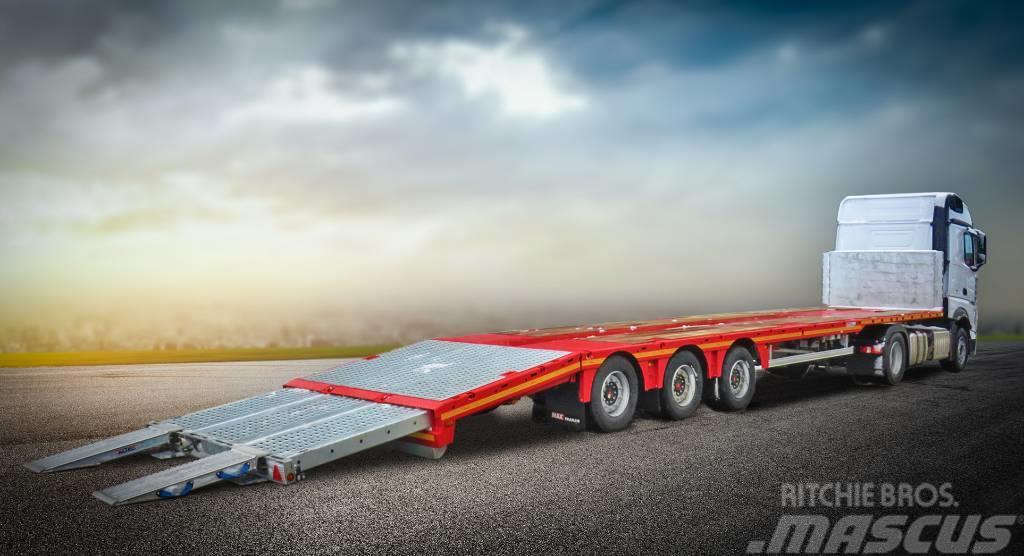 MAX Trailer naczepa platforma mega z hydraulicznie opuszczanym