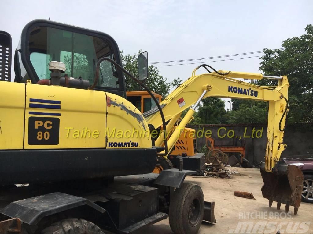 Komatsu PC 80 wheel excavator