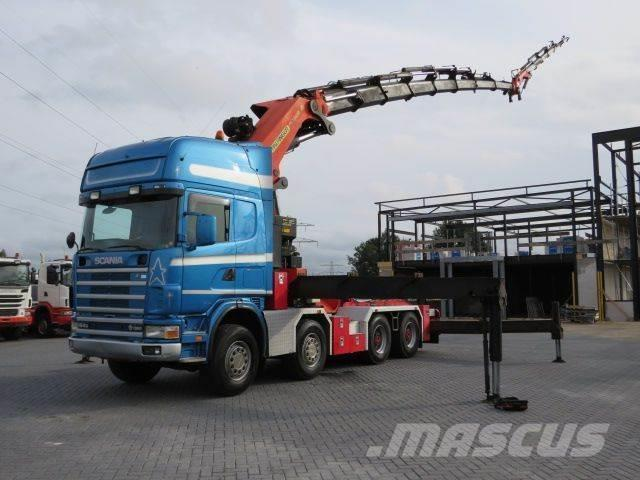 Scania 164 580 8x4 Palfinger PK 120000