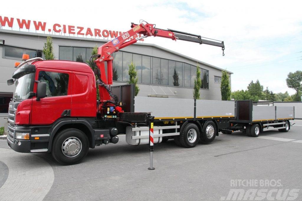 Scania SET P380 CRANE HMF + TRAILER 200 000 km