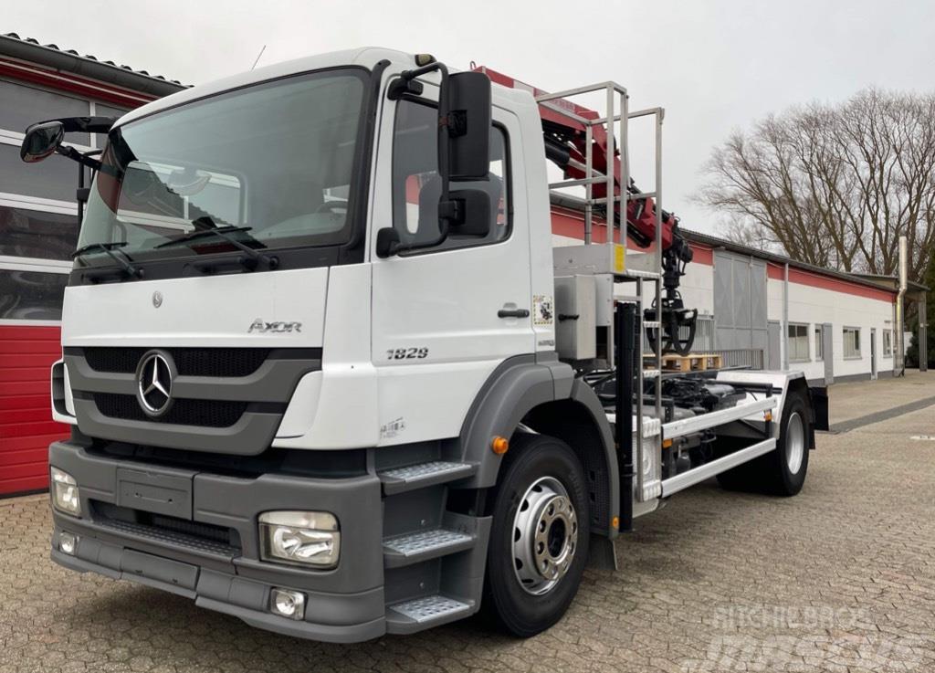 Mercedes-Benz Axor 1829 Kipper HDS Kran HMF 635