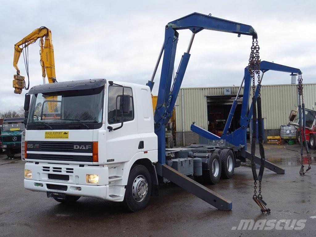 DAF 85 CF 330 ATI SideLoader Container 20ft. Perfect C