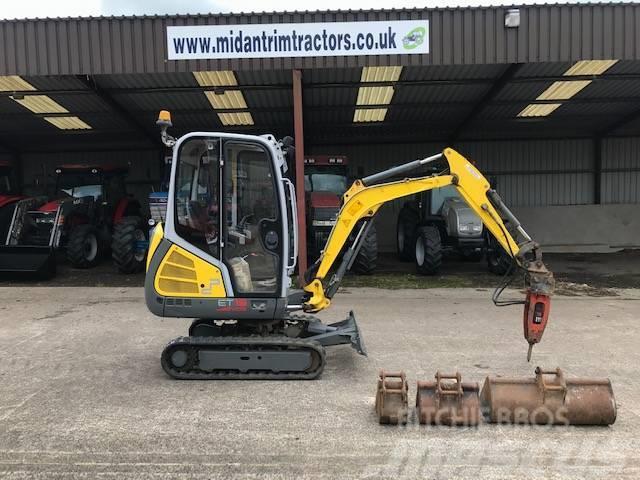 Wacker Neuson ET18 VDS 1.8 Ton excavator c/w 3 buckets & hammer